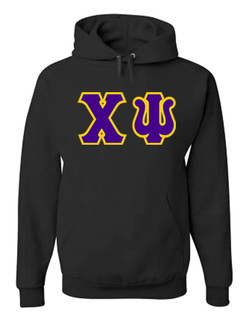Jumbo Twill Chi Psi Hooded Sweatshirt