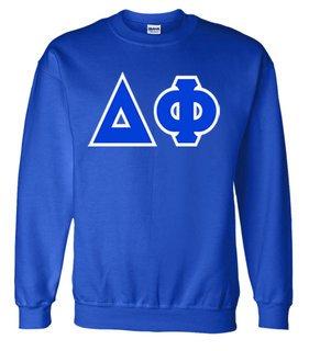 Jumbo Twill Delta Phi Crewneck Sweatshirt