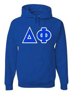 Jumbo Twill Delta Phi Hooded Sweatshirt