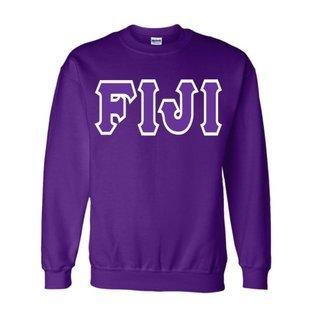 Jumbo Twill FIJI Fraternity Crewneck Sweatshirt