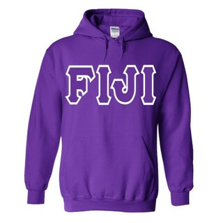 Jumbo Twill FIJI Fraternity Hooded Sweatshirt
