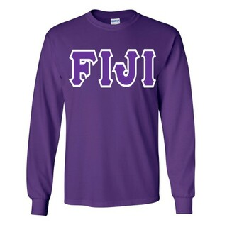Jumbo Twill FIJI Fraternity Long Sleeve Tee