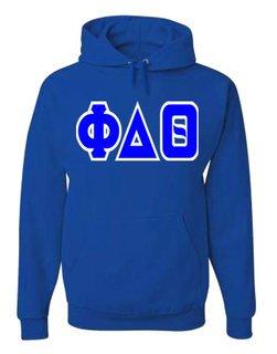 Jumbo Twill Phi Delta Theta Hooded Sweatshirt