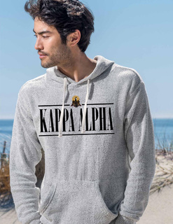 Kappa Alpha Line Crest Lucas Loop Fleece Hood