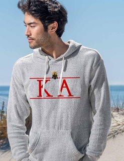 Kappa Alpha Line Crest Lucas Loop Fleece Hood