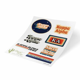 Kappa Alpha 70's Sticker Sheet