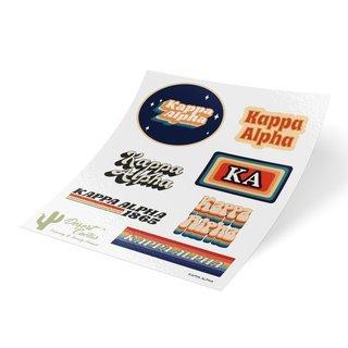 Kappa Alpha 70's Sticker Sheet