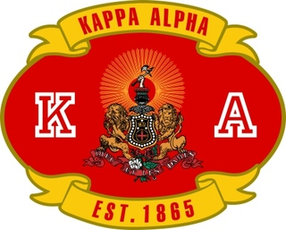 Kappa Alpha Banner Crest - Shield Decal