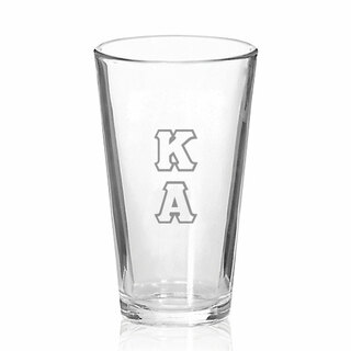 Kappa Alpha Big Letter Mixing Glass