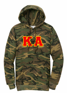 DISCOUNT-Kappa Alpha Camo Pullover Hooded Sweatshirt