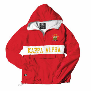Kappa Alpha Charles River Custom Stripe Greek Pullover Anorak