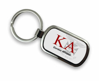 Kappa Alpha Chrome Crest - Shield Key Chain
