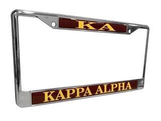 Kappa Alpha Chrome License Plate Frames
