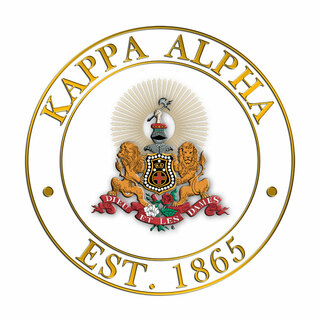 Kappa Alpha Circle Crest - Shield Decal