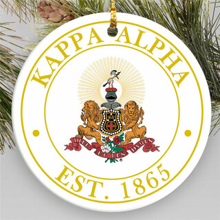Kappa Alpha Circle Crest Round Ornaments
