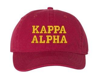 Kappa Alpha Comfort Colors Pigment Dyed Baseball Cap