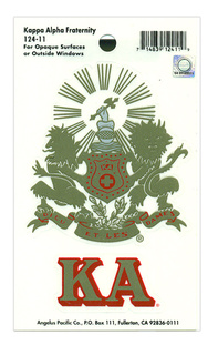 Kappa Alpha Crest - Shield Decal