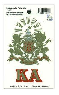 Kappa Alpha Crest - Shield Decal