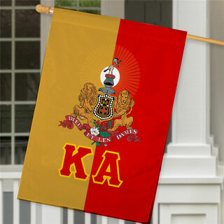 Kappa Alpha Crest House Flag