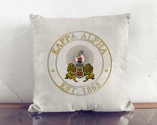 Kappa Alpha Crest Linen Pillow