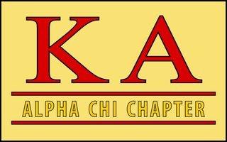 Kappa Alpha Custom Line Sticker Decal