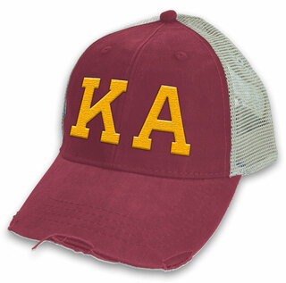 Kappa Alpha Distressed Trucker Hat