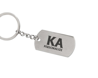 Kappa Alpha Dog Tag Style Custom Keychain