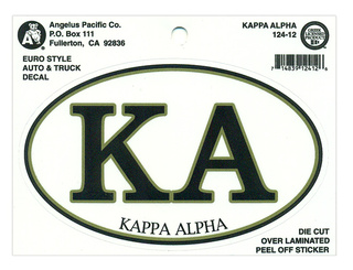Kappa Alpha Euro Decal Oval Sticker