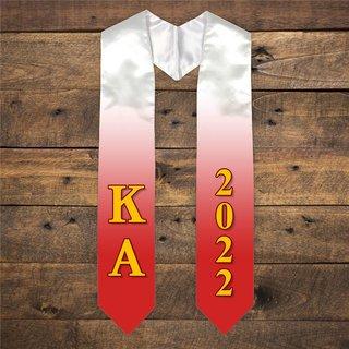 Kappa Alpha Extra Fancy Greek Graduation Stole W Year