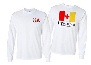 Kappa Alpha Flag Long Sleeve T-shirt