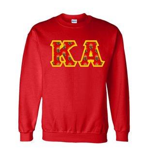 Kappa Alpha Fraternity Crest - Shield Twill Letter Crewneck Sweatshirt