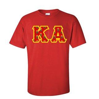 Kappa Alpha Fraternity Crest - Shield Twill Letter Tee