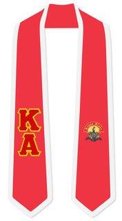 Kappa Alpha Greek 2 Tone Lettered Graduation Sash Stole