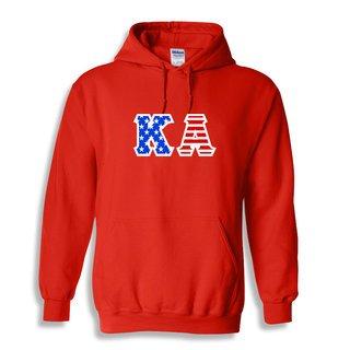 DISCOUNT-Kappa Alpha Greek Letter American Flag Hoodie