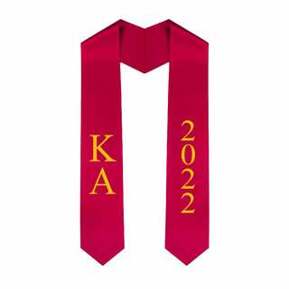 Kappa Alpha Greek Lettered Graduation Sash Stole With Year - Best Value