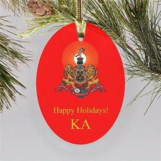 Kappa Alpha Holiday Color Crest - Shield Ornament