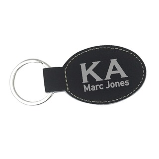 Kappa Alpha Leatherette Oval Keychain