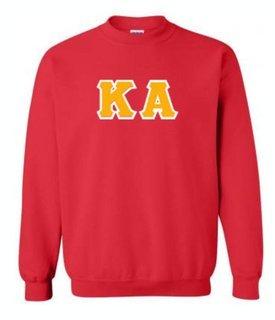 Kappa Alpha Sewn Lettered Crewneck Sweatshirt