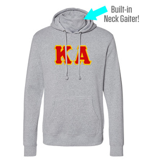 Kappa Alpha Lettered Gaiter Fleece Hooded Sweatshirt