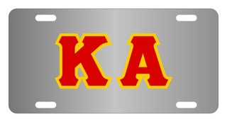 Kappa Alpha Lettered License Cover