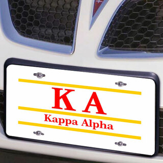 Kappa Alpha Lettered Lines License Cover