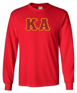 Kappa Alpha Lettered Long Sleeve Tee- MADE FAST!