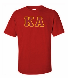Kappa Alpha Lettered T-shirt - MADE FAST!