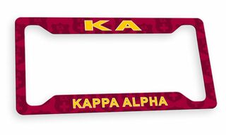 Kappa Alpha Custom License Plate Frame