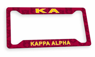 Kappa Alpha Custom License Plate Frame