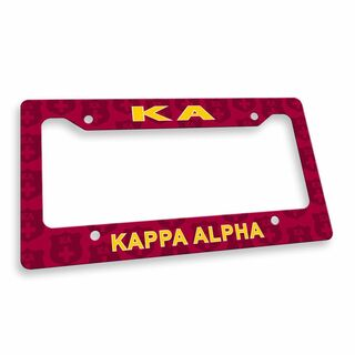 Kappa Alpha License Plate Frame