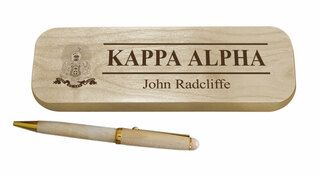 Kappa Alpha Maple Wood Pen Set