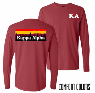 Kappa Alpha Outdoor Long Sleeve T-shirt - Comfort Colors