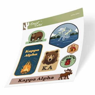 Kappa Alpha Outdoor Sticker Sheet