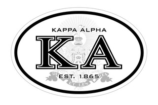 Kappa Alpha Oval Crest - Shield Bumper Sticker - CLOSEOUT